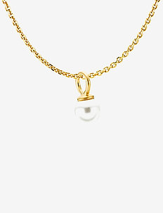 Pearly Necklace - SATINATED GOLD, WHITE