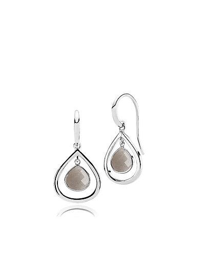 Honesty Medium Earrings - SHINY SILVER - GREY