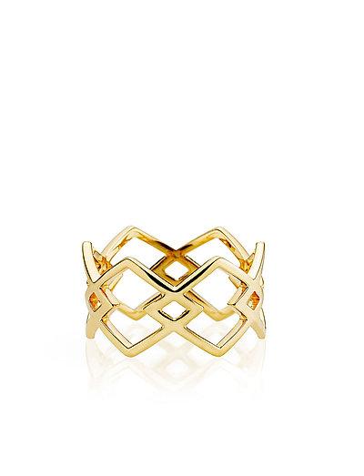DNA ring - SHINY GOLD