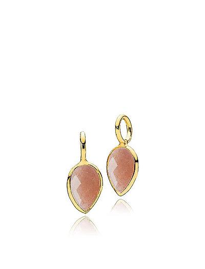 Dewdrop pendants-2 pieces - SHINY GOLD - ORANGE