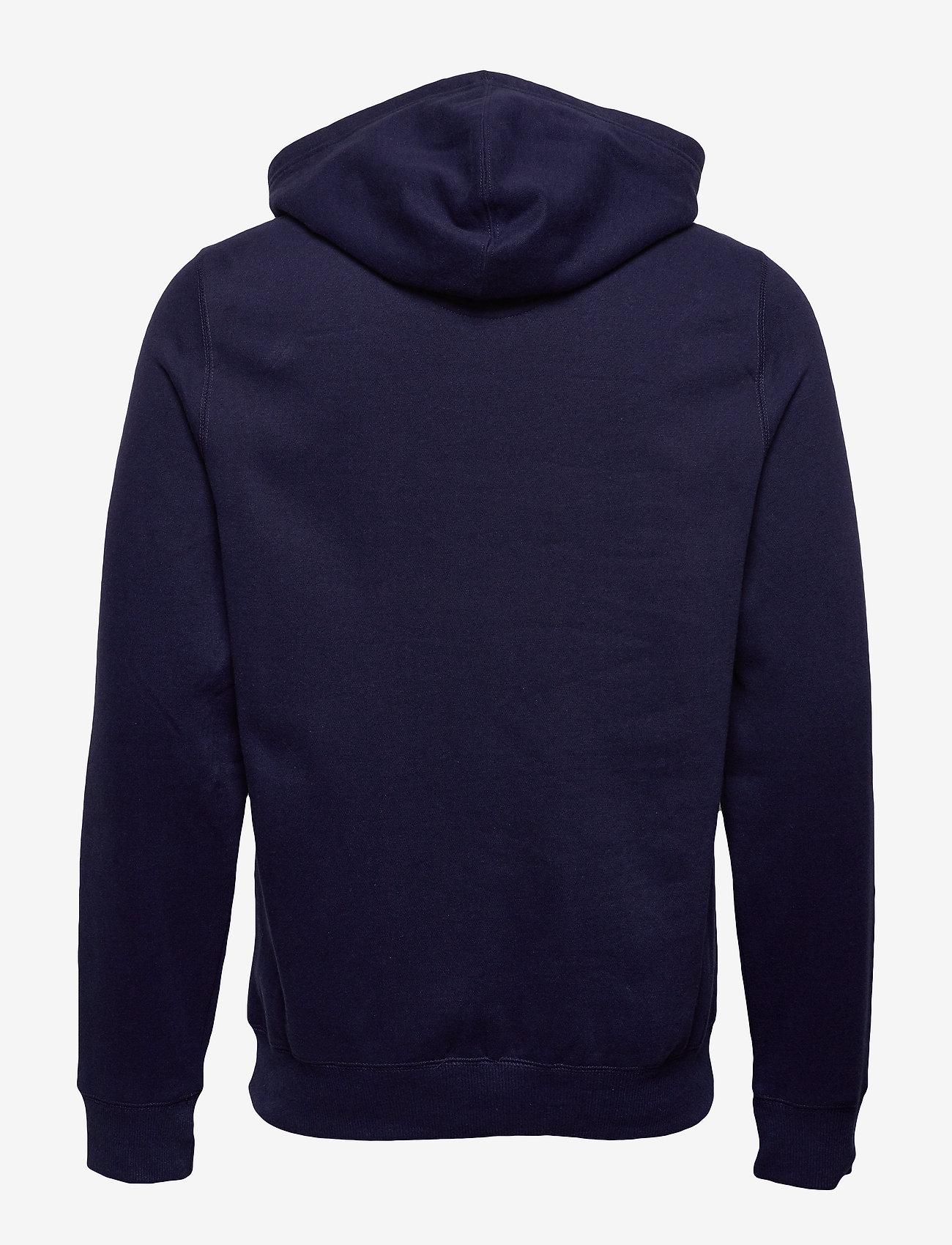 IZOD PRINTED GRAPHIC HOODIE - Sweatshirts PEACOAT - Menn Klær