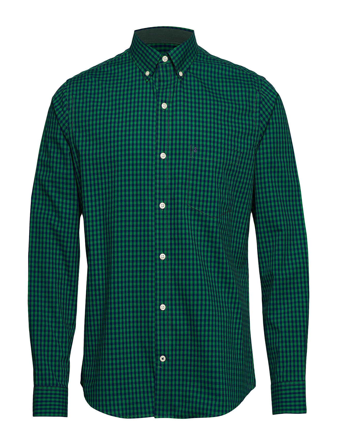 IZOD GINGHAM BD SHIRT - VERDANT GREEN
