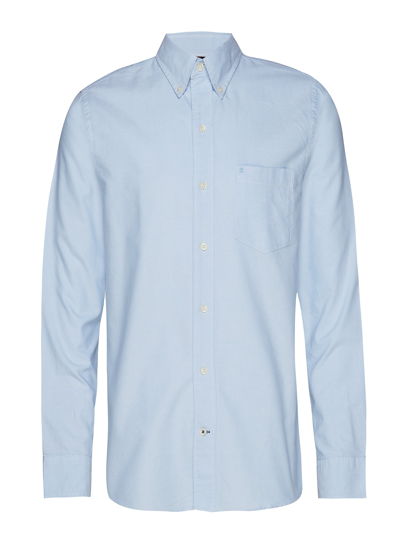 IZOD WASHED OXFORD BD SHIRT - BLUE BELL