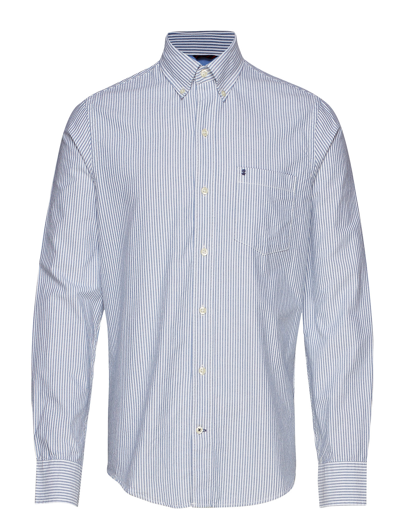 IZOD OXFORD DOBBY STRIPE BD SHIRT - TRUE BLUE