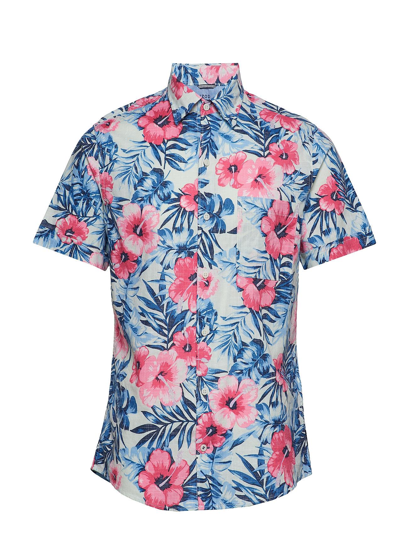 Shirtclearly Floral Print Bd Ss AquaIzod SVUzMp