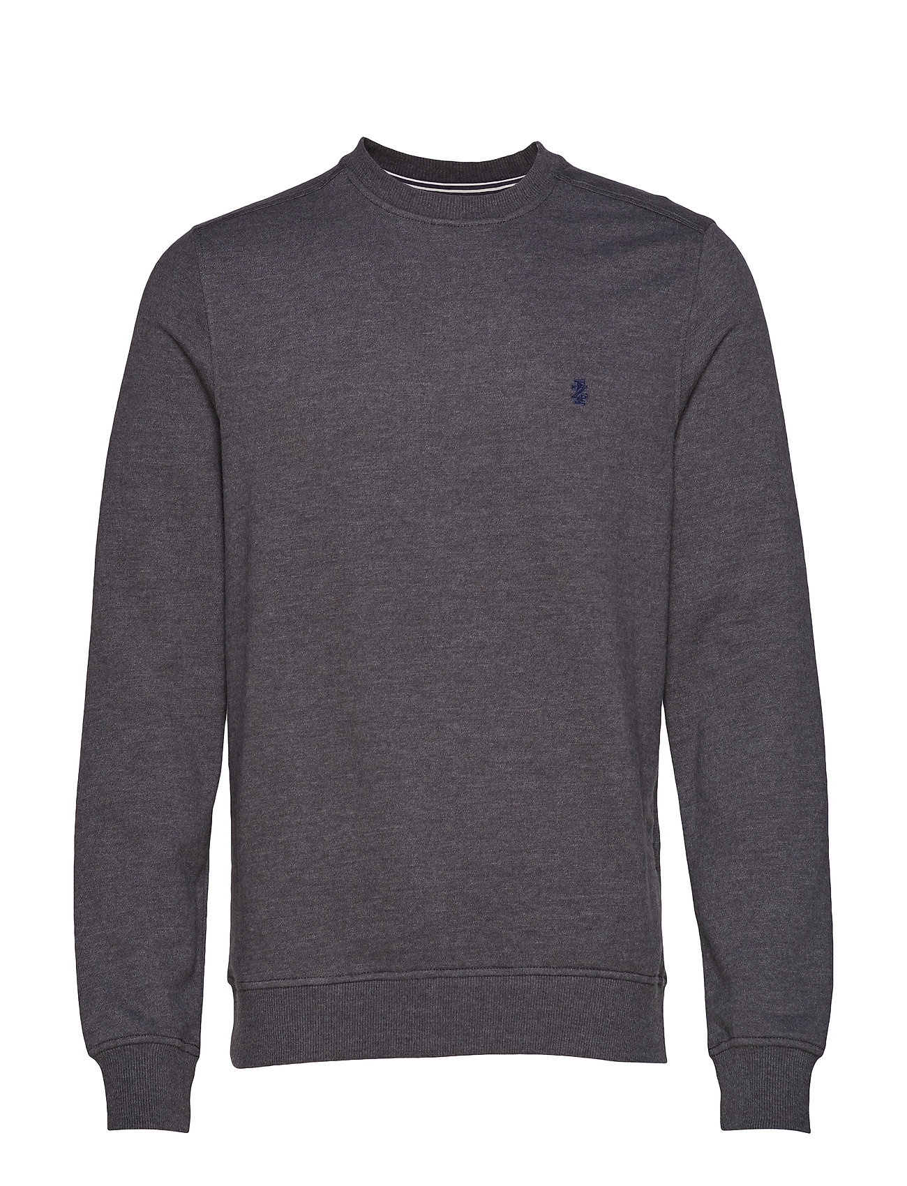 IZOD SUPER SOFT SOLID FLEECE CREW - ASPHALT
