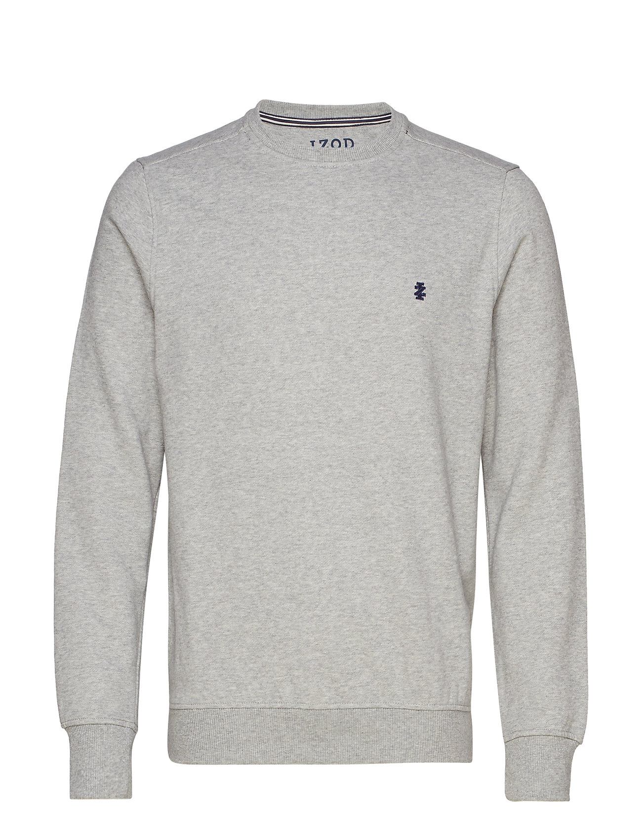 IZOD SUPER SOFT SOLID FLEECE CREW - LIGHT GREY HTR