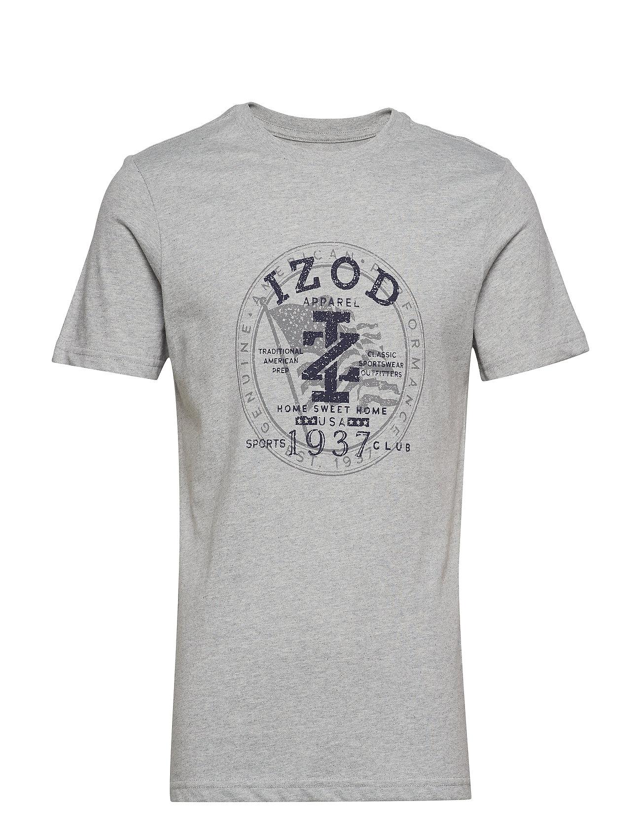 HtrIzod Crest Americana Graphic Grey Teelt KTF1clJ
