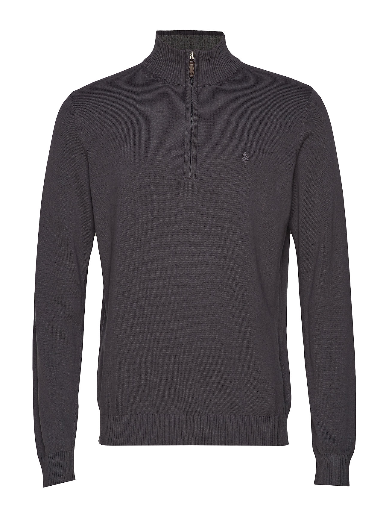 IZOD 12GG 1/4 ZIP SWEATER - ASPHALT