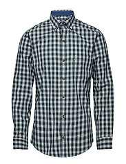 POPLIN TARTAN SHIRT - ESTATE BLUE