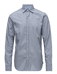 STRIPED OXFORD SHIRT - FEDERAL BLUE