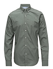 PRINTED POPLIN SHIRT - AGAVE GREEN