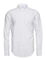 PRINTED POPLIN SHIRT - BRIGHT WHITE