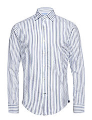 STRIPED OXFORD SHIRT - BRIGHT WHITE