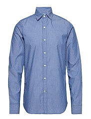 DOBBY STRIPE SHIRT - TRUE BLUE