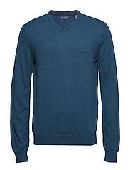 12GG V-NECK SWEATER - LEGION BLUE