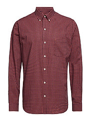 GINGHAM CHECK SHIRT - SALTWATER RED