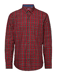 POPLIN TARTAN SHIRT - REAL RED