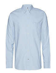WASHED OXFORD BD SHIRT - BLUE BELL