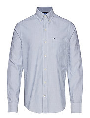 OXFORD DOBBY STRIPE BD SHIRT - TRUE BLUE