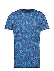 ALL OVER PRINTED TEE - CLUB BLUE