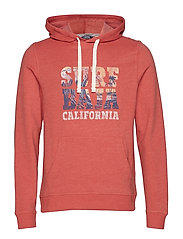 PULLOVER HOODIE WITH GRAPHIC - SALTWATER RED