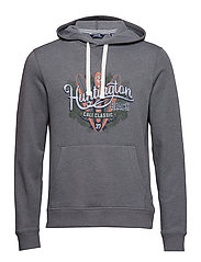 PULLOVER HOODIE WITH GRAPHIC - SMOKED PEARL