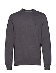 SUPER SOFT SOLID FLEECE CREW - ASPHALT