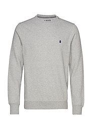 SUPER SOFT SOLID FLEECE CREW - LIGHT GREY HTR