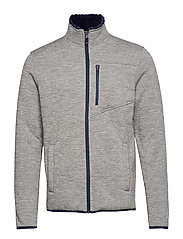 SHERPA LINED JERSEY JACKET - LT GREY HTR