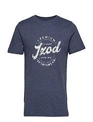 Premium Izod Graphic Tee T-shirts Short-sleeved Blå IZOD