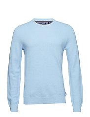 12GG PIQUE CREW NECK SWEATER - PLACID BLUE