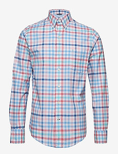 OXFORD MULTI CHECK BD SHIRT - CANDY PINK