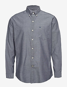 SOLID OXFORD BD SHIRT - MIDNIGHT