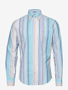OXFORD MULTI STRIPE BD SHIRT - BRIGHT WHITE