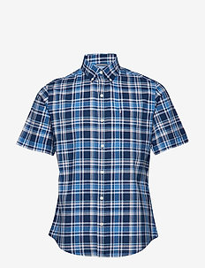 DOCKSIDE BIG PLAID SS SHIRT - ESTATE BLUE