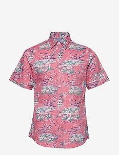 DOCKSIDE ISLAND PRINT SS SHIRT - RAPTURE ROSE