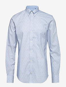 DOT PRINT BD SHIRT - ESTATE BLUE