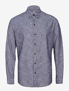 CHAMBRAY BD SHIRT - MEDIEVAL BLUE