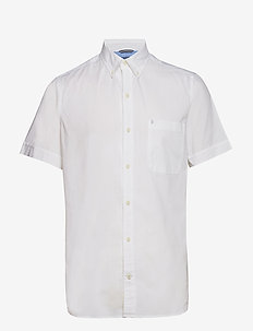 SOLID CHAMBRAY BD SS SHIRT - BRIGHT WHITE