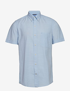 SOLID CHAMBRAY BD SS SHIRT - CHAMBRAY BLUE
