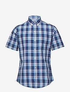 BREEZE POPLIN PLAID SS SHIRT - ESTATE BLUE