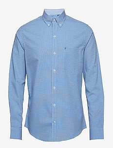 MINI GINGHAM BD SHIRT - BLUE REVIVAL