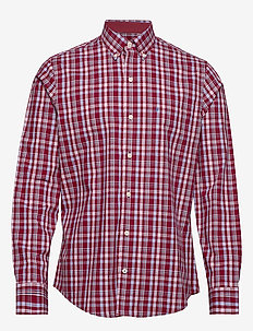 POPLIN PLAID BD SHIRT - BIKING RED