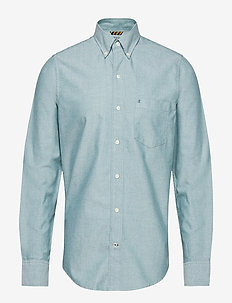 WASHED OXFORD BD SHIRT - EVERGREEN
