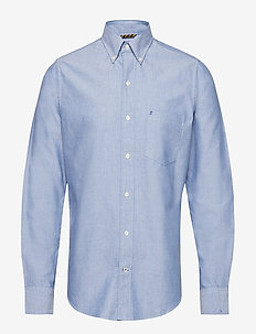 WASHED OXFORD BD SHIRT - TRUE BLUE