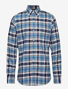 WASHED OXFORD PLAID BD SHIRT - PEACOAT