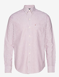OXFORD DOBBY STRIPE BD SHIRT - oxford-skjortor - biking red