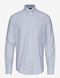 OXFORD DOBBY STRIPE BD SHIRT - oxford-skjortor - true blue