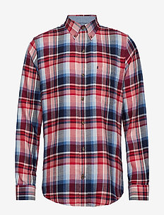 FLANNEL PLAID BD SHIRT - REAL RED